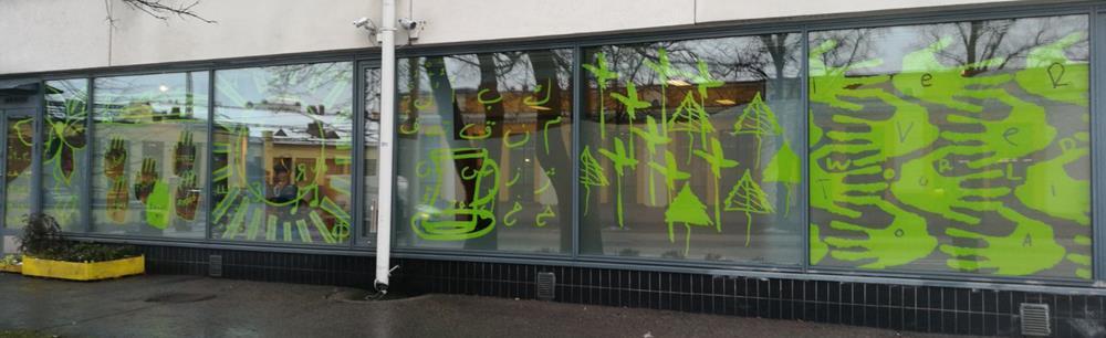 ikkunateippaus vihreä